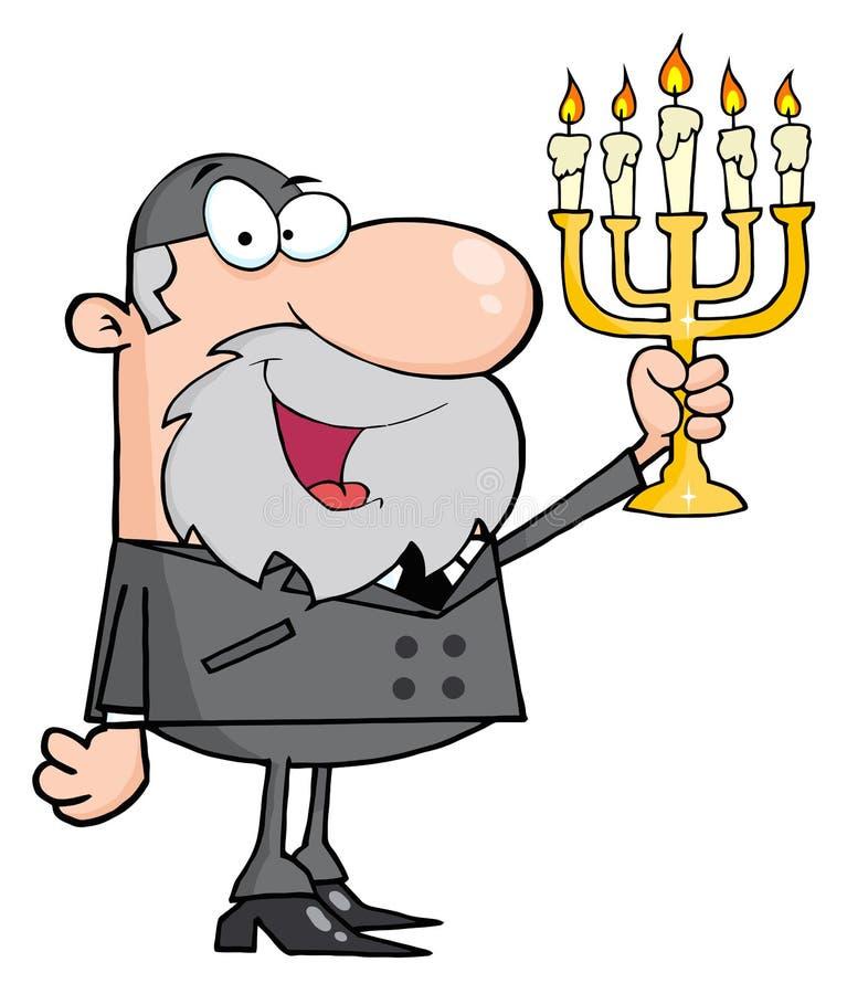 Hombre del rabino stock de ilustración