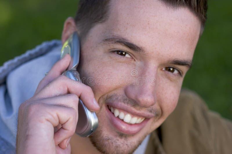 Hombre del teléfono foto de archivo libre de regalías