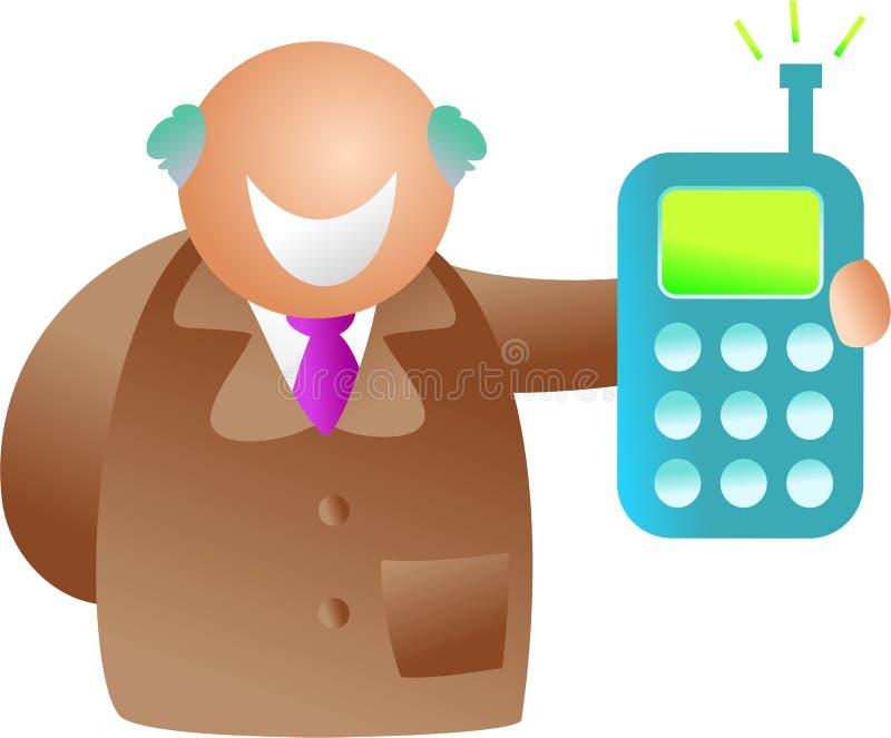 Hombre del teléfono ilustración del vector