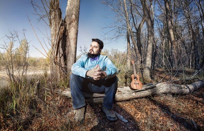 Hombre del ukelele foto de archivo libre de regalías