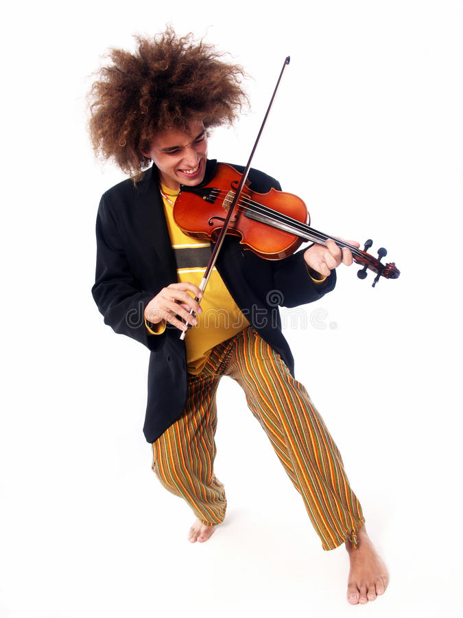 Hombre del violín. fotos de archivo
