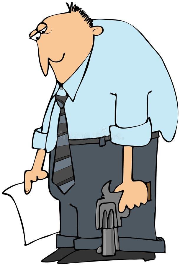 Hombre deprimido ilustración del vector