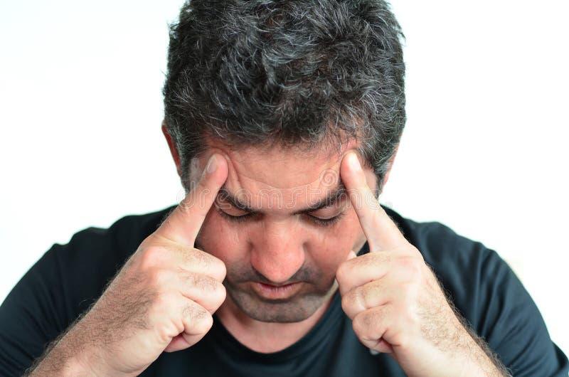Hombre deprimido fotografía de archivo libre de regalías