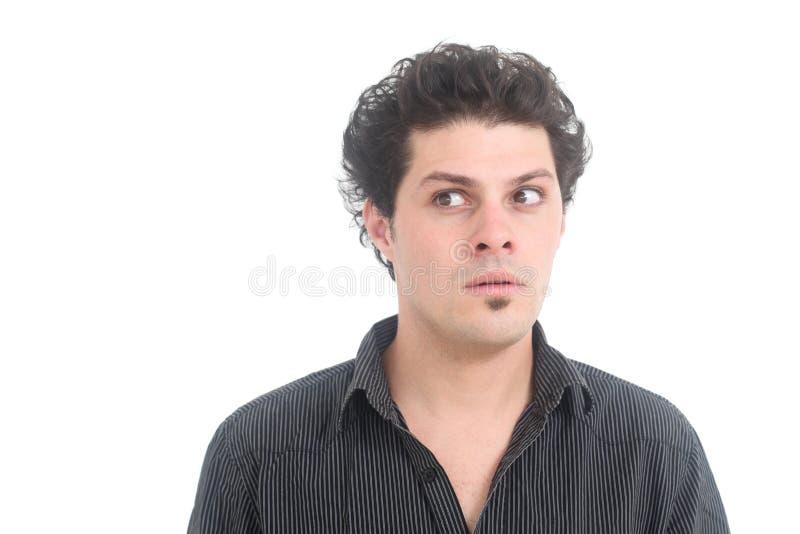 Hombre desconcertado foto de archivo
