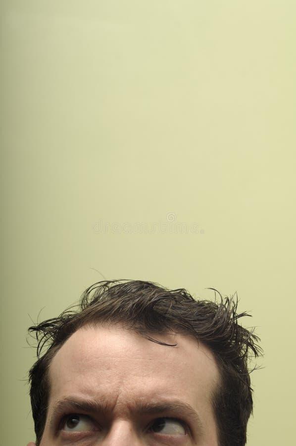 Hombre Disheveled, ansioso foto de archivo libre de regalías