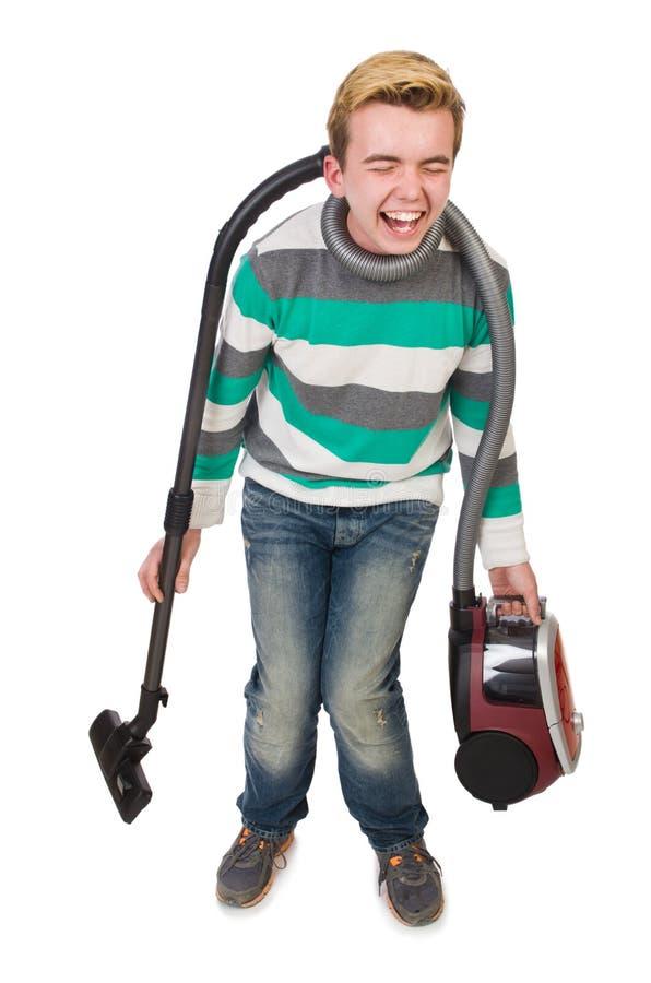 Download Hombre Divertido Con El Aspirador Foto de archivo - Imagen de cómico, cleaner: 41914994