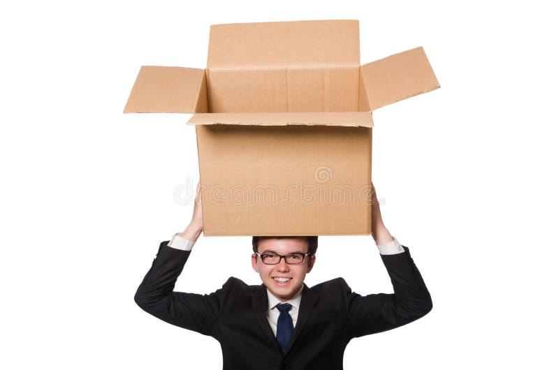 Download Hombre Divertido Con Las Cajas Aisladas Imagen de archivo - Imagen de diversión, rectángulos: 41914573