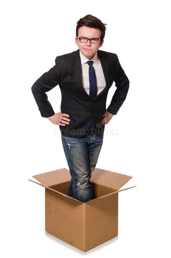 Download Hombre Divertido Con Las Cajas Aisladas Foto de archivo - Imagen de carga, salida: 41914606