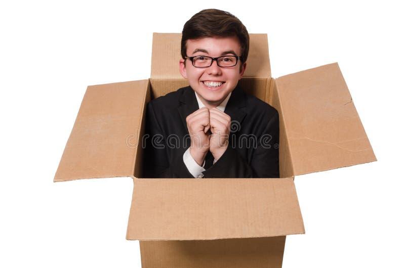 Download Hombre Divertido Con Las Cajas Aisladas Foto de archivo - Imagen de distribución, negocios: 41914614