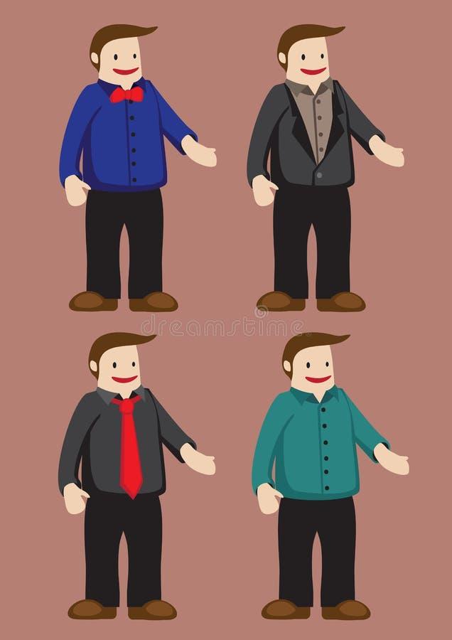 Hombre divertido de la historieta para el ejemplo del vector de la moda de los hombres libre illustration