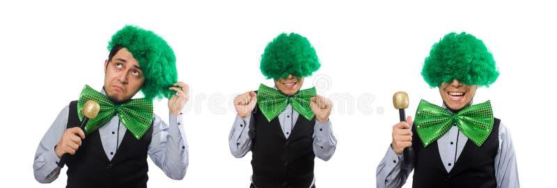 Hombre divertido en concepto del d?a de fiesta de St Patrick imagen de archivo libre de regalías