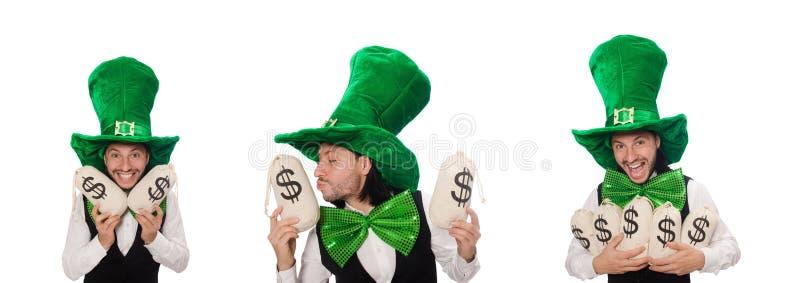 Hombre divertido en concepto del d?a de fiesta de St Patrick fotos de archivo libres de regalías