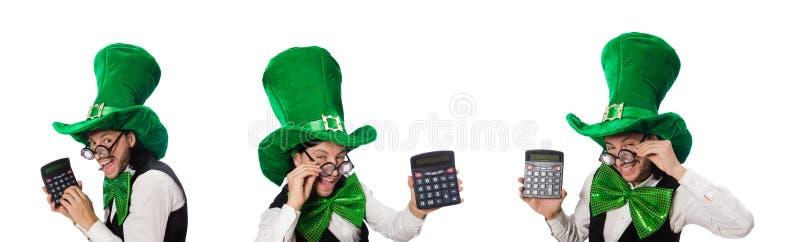Hombre divertido en concepto del d?a de fiesta de St Patrick fotografía de archivo