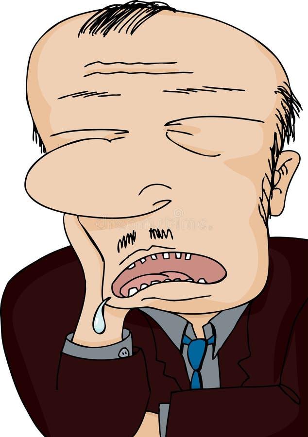 Hombre Drooling dormido ilustración del vector