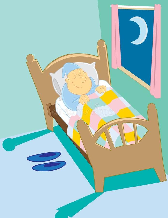Hombre durmiente ilustración del vector