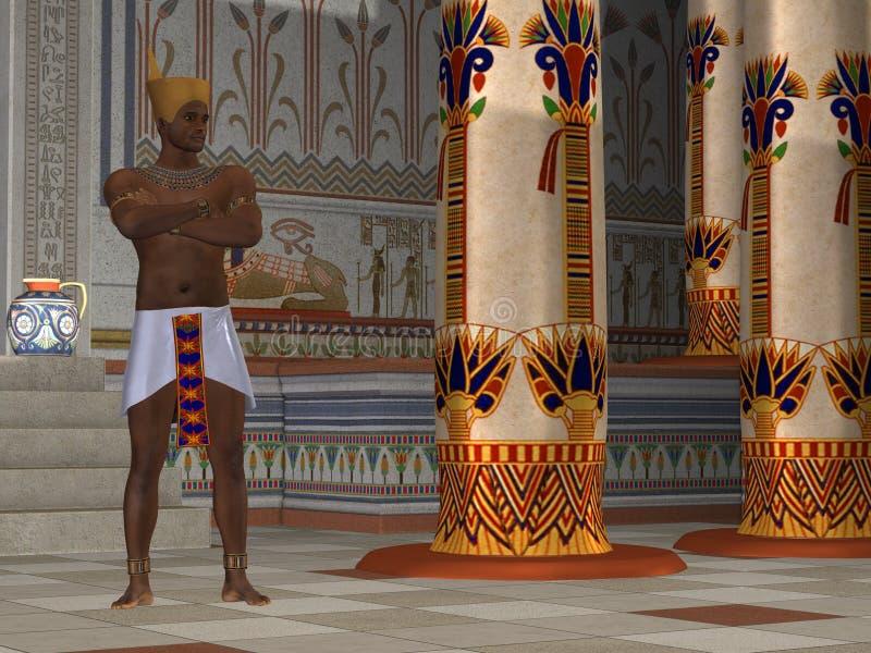 Hombre egipcio 02 stock de ilustración