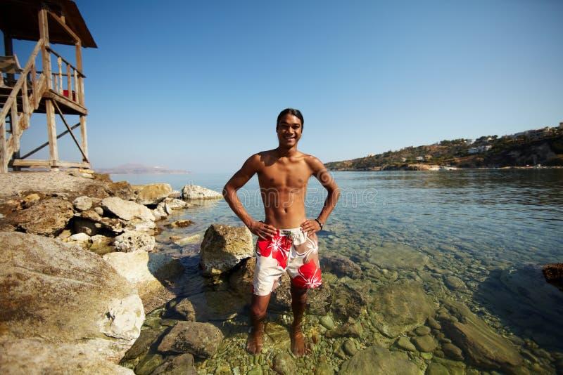 Hombre en agua fotografía de archivo