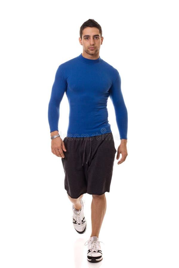 Hombre en camisa azul fotos de archivo libres de regalías