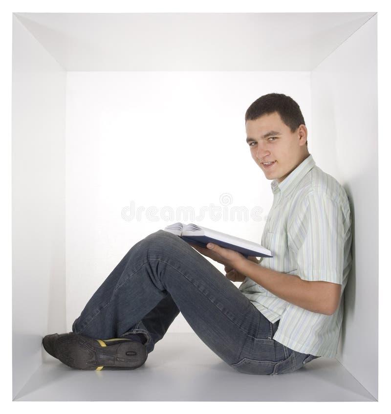Hombre en el cubo imagen de archivo libre de regalías
