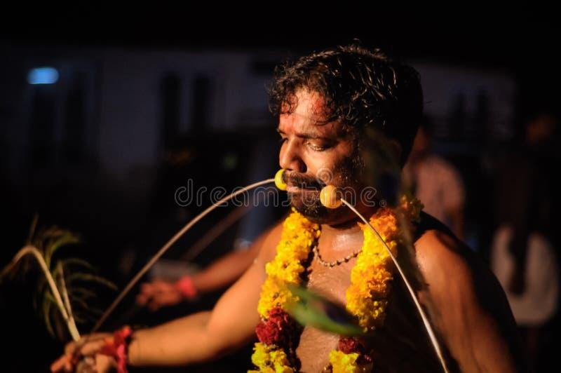 Hombre en el festival de Kerala en Kerala fotografía de archivo libre de regalías