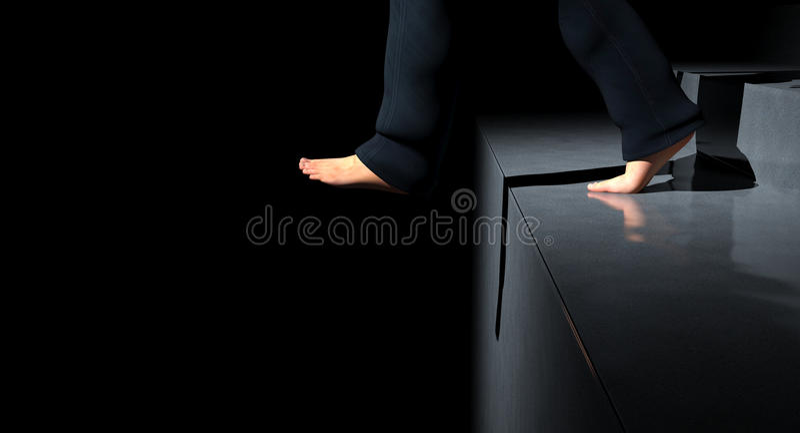 Hombre en el paso pasado stock de ilustración