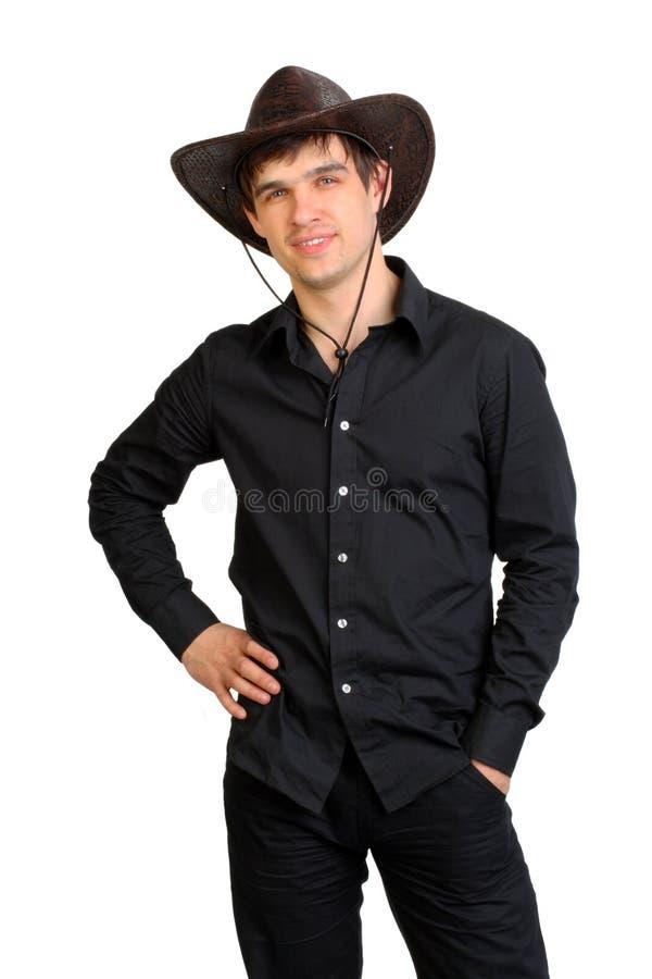 Hombre en el sombrero de stetson foto de archivo libre de regalías