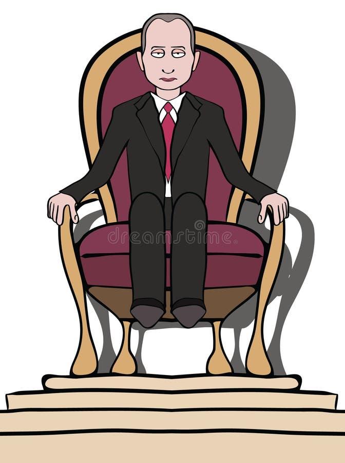 Hombre en el trono ilustración del vector