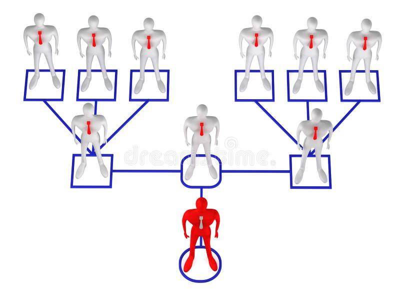 Hombre en estructura del lazo corporativo stock de ilustración