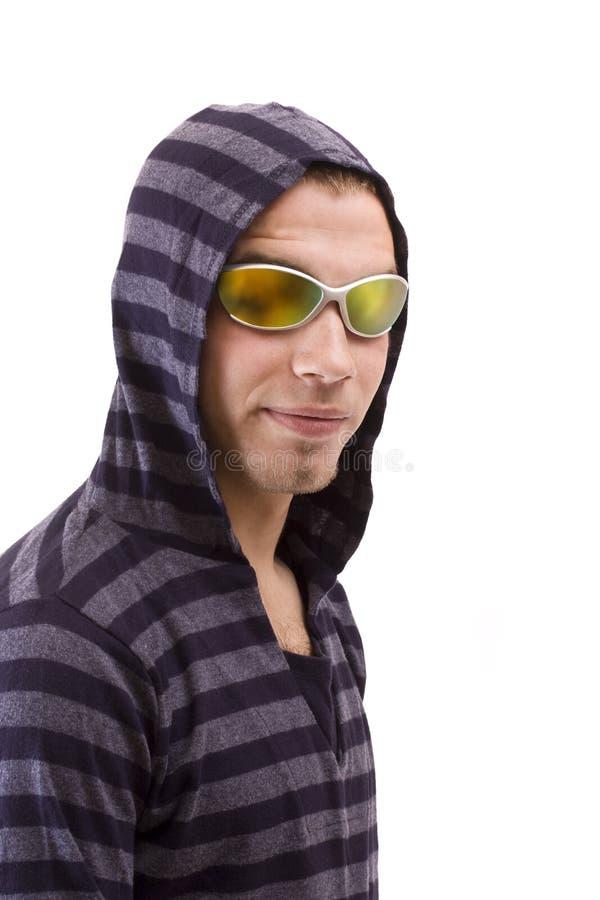 Hombre en gafas de sol fotografía de archivo