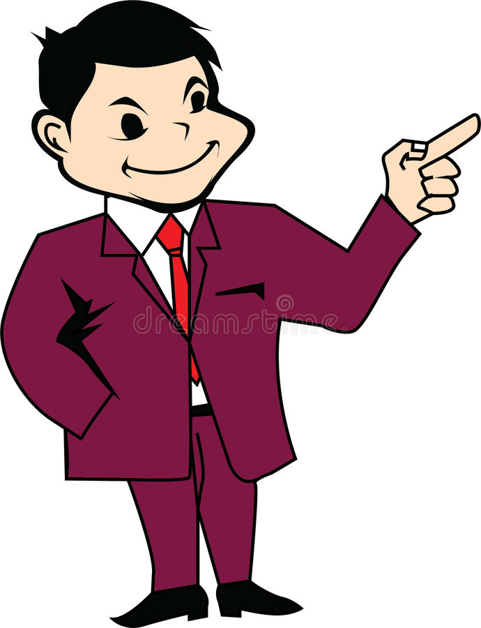 Hombre en icono de la presentación del traje imágenes de archivo libres de regalías