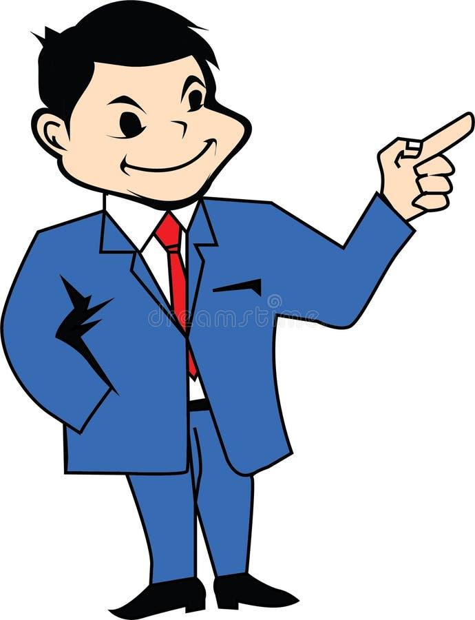 Hombre en icono de la presentación del traje fotografía de archivo libre de regalías