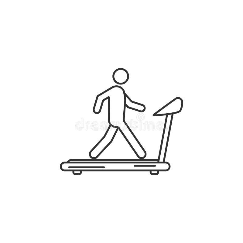 Hombre en icono de la rueda de ardilla Ejemplo simple del elemento Hombre en plantilla del diseño del símbolo de la rueda de ardi libre illustration