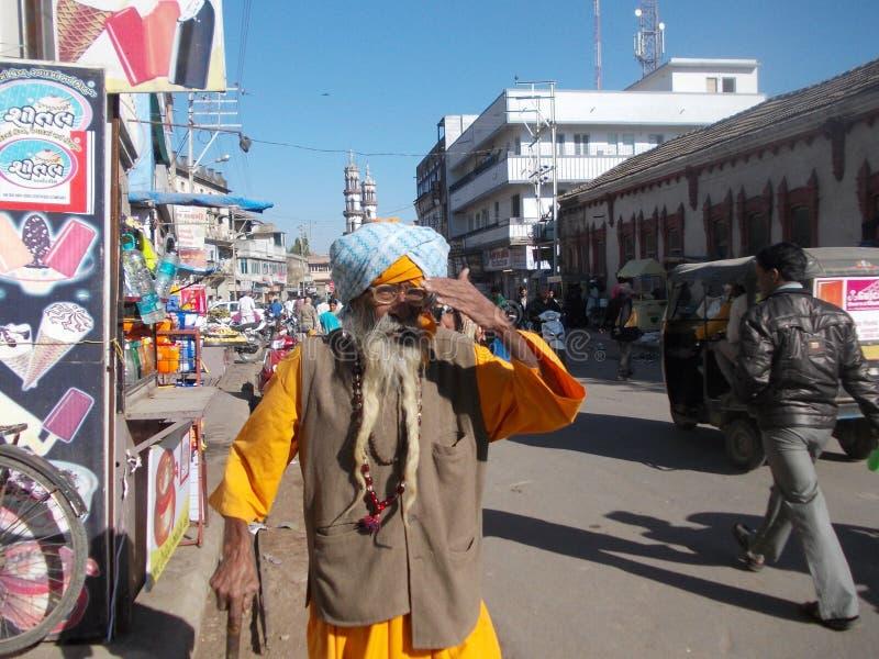 Hombre en Junagadh/la India imágenes de archivo libres de regalías