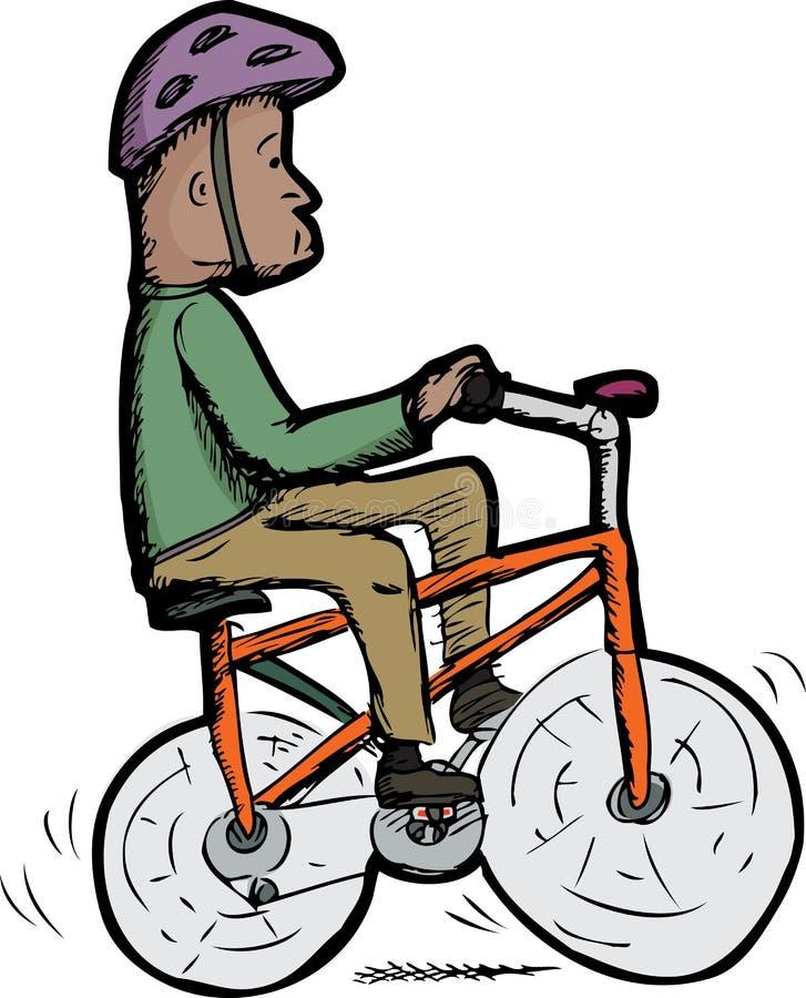 Hombre en la bici libre illustration
