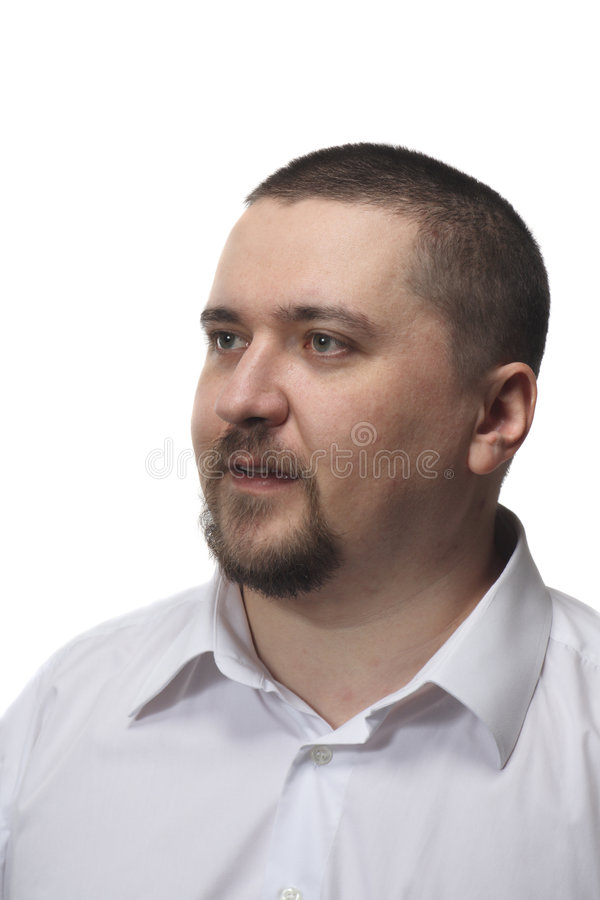 Hombre en la camisa blanca imágenes de archivo libres de regalías