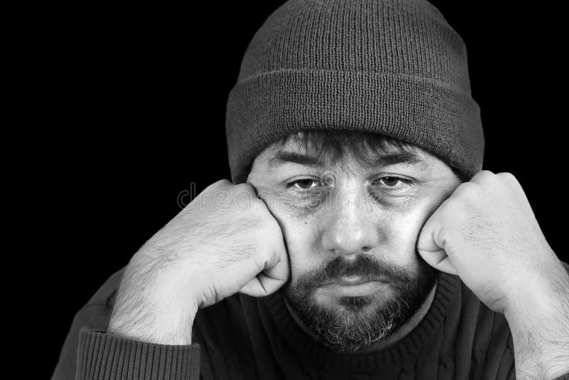 Hombre en la desesperación imagen de archivo