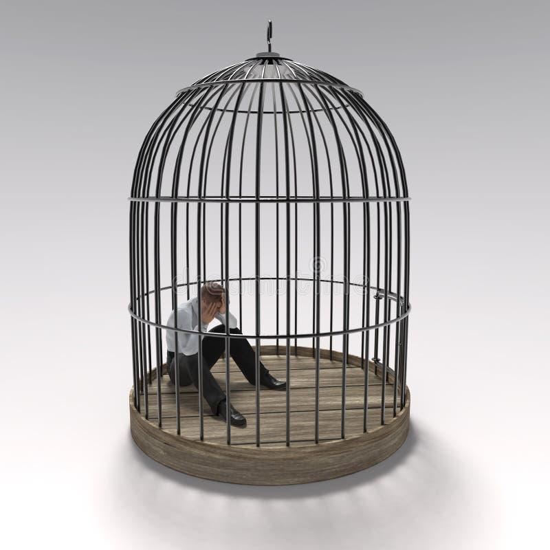 Hombre en la jaula libre illustration
