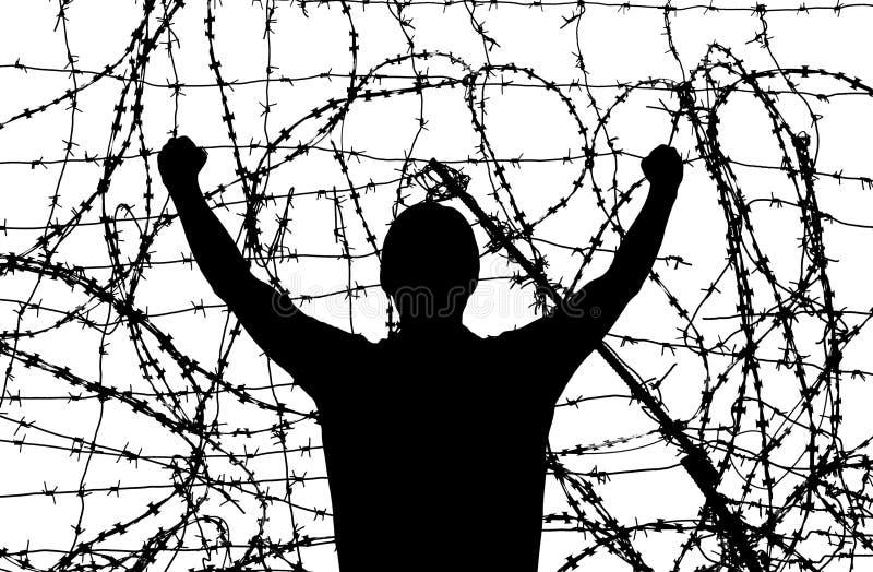 Hombre en la prisión imagenes de archivo