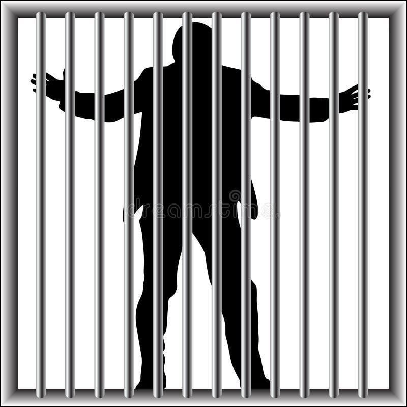 Hombre en la prisión libre illustration