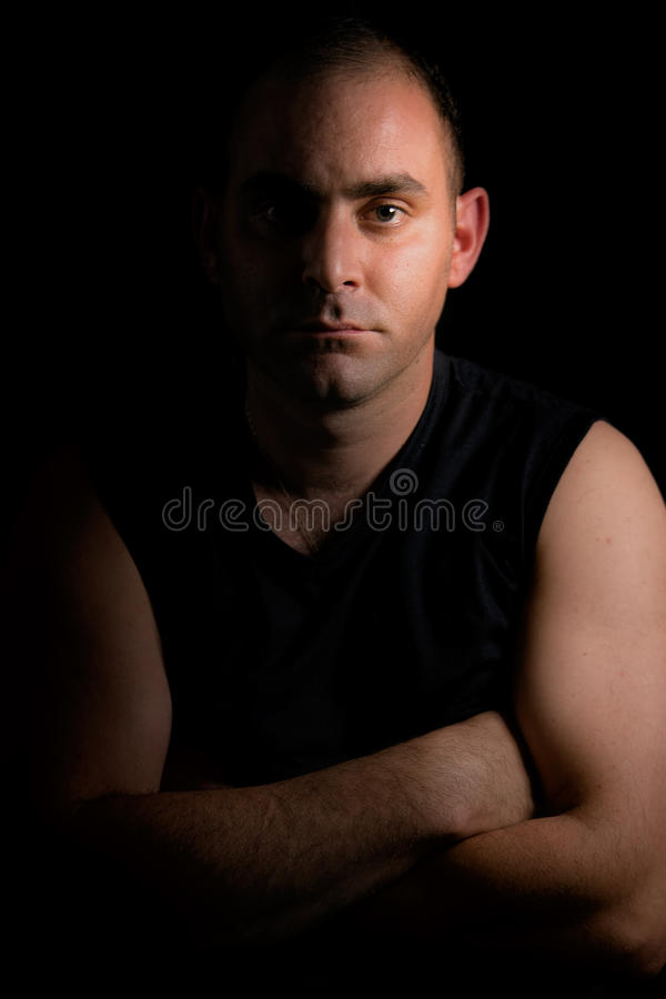 Hombre en la sombra fotos de archivo