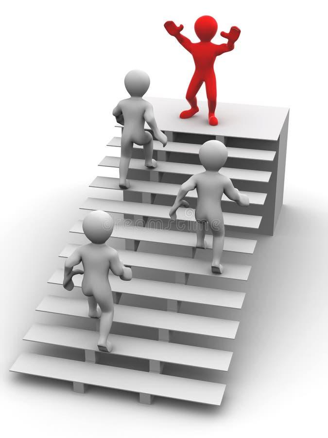 Hombre en las escaleras stock de ilustración