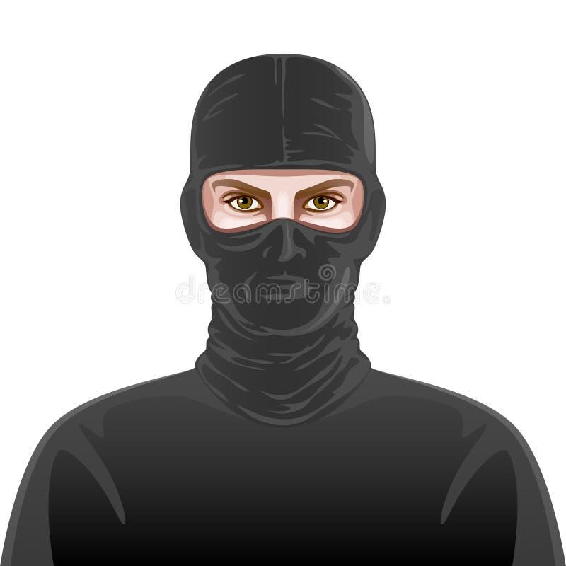 Hombre en máscara negra libre illustration