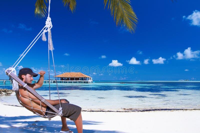 Hombre en Maldives fotos de archivo