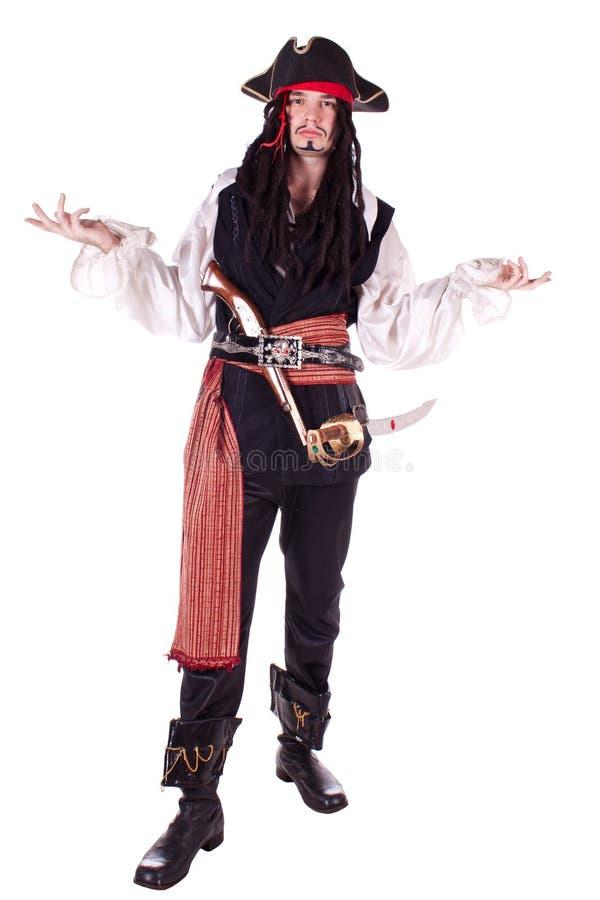 Hombre en mascarada. pirata imágenes de archivo libres de regalías