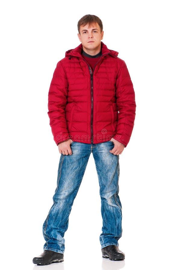 Hombre en ropa del invierno fotos de archivo