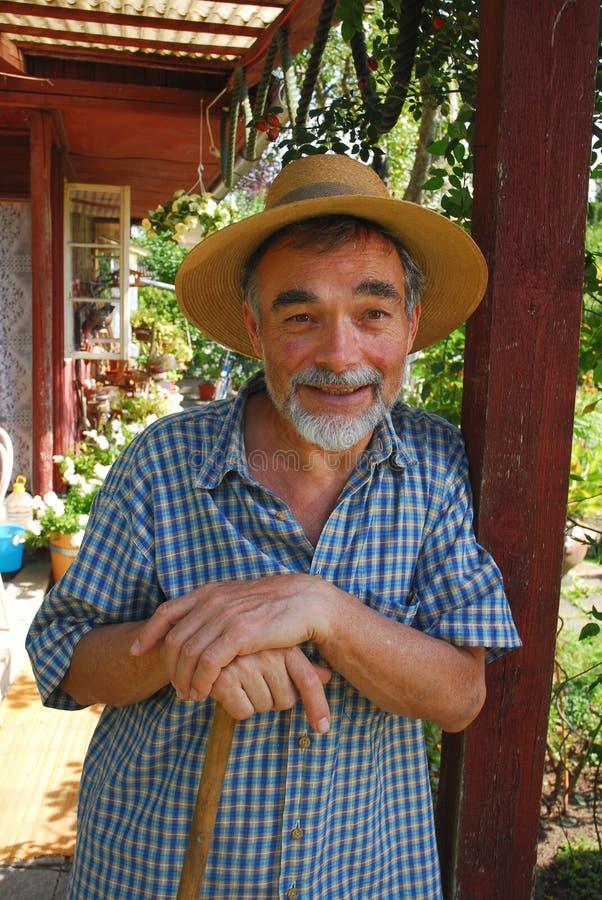 Hombre en sombrero imagenes de archivo