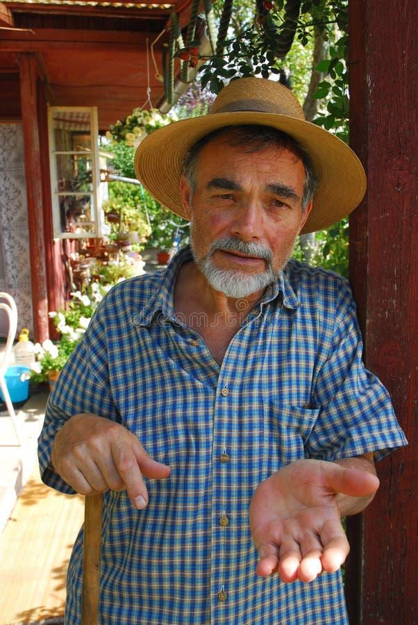 Hombre en sombrero imagen de archivo