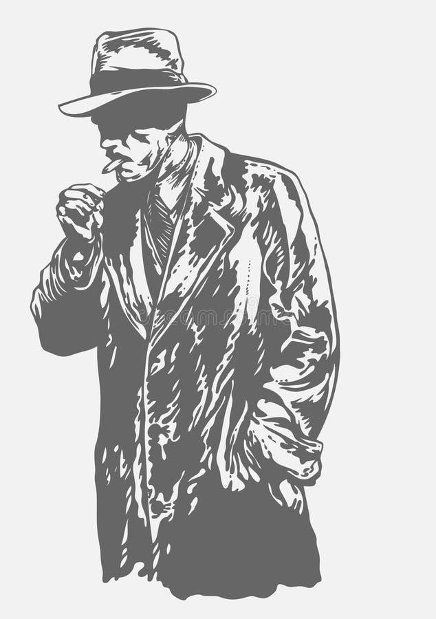 Hombre en sombrero ilustración del vector