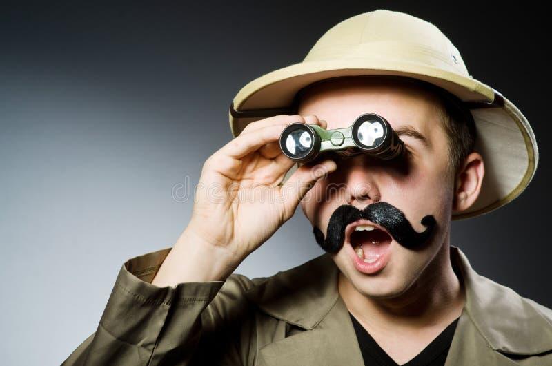Hombre en sombrero del safari foto de archivo libre de regalías