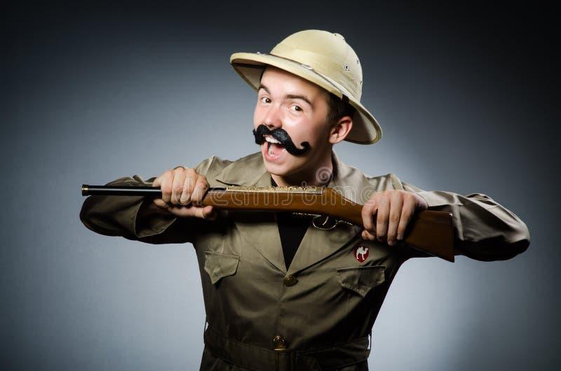 Hombre en sombrero del safari fotos de archivo libres de regalías